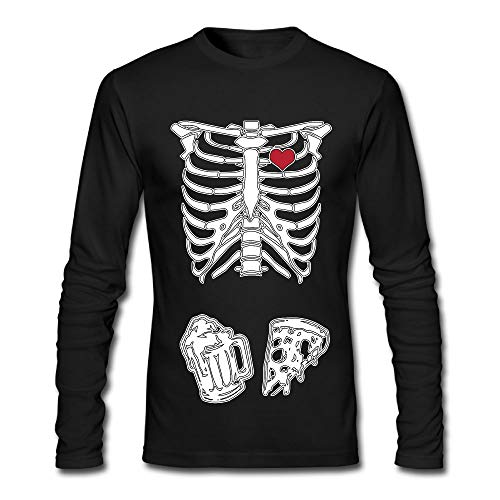 XXMBBT-J Skeleton Maternity Pizza & Beer Mens Cool