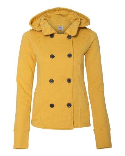 ITC Juniors' Textured Fleece Pea Coat PRM350PC - Mustard - X-Large