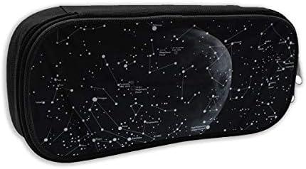 Bolsa de papelería, diseño de constelaciones de luna, multicolor, bolsa de cosméticos, estuche para bolígrafos con bolsa con cierre: Amazon.es: Oficina y papelería