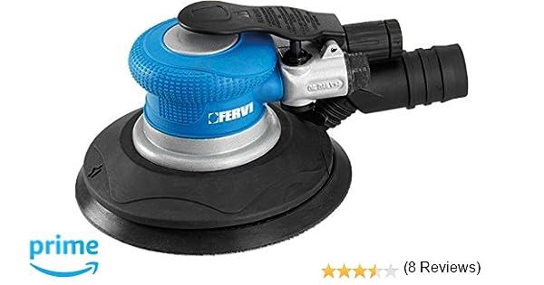 Fervi 458 Ro Torbitale Levigatrice Pneumatica, 150 mm Cian/Negro: Amazon.es: Bricolaje y herramientas