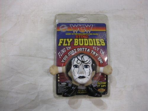 WCW Sting Fly Buddies Magic Action Balloon Flying Figure 1997 (Sting Action Figure Wcw Nwo)