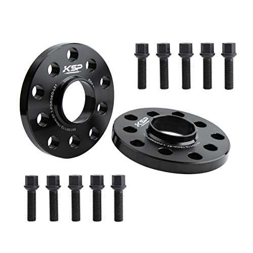 KSP 5X100 5X112 Wheel Spacers, 2PCS 15mm Hubcentric Forged Spacers With Sphere Seat Lug Bolts fit for Audi A3 A4 A6 A8 S4 S6 S8 Quattro TT VW 5 Lug Thread Pitch M14x1.5 Hub Bore 57.1mm, 2-Year Warrany