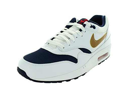 Mens White Mid Gold Navy 127 Metallic Essential Max Nike Air 1 RdxXwqFfF