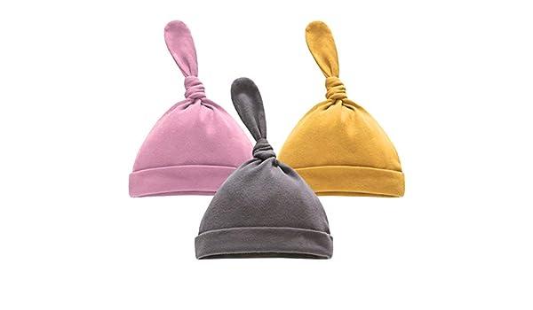 Leyeet 3Pcs / Set Sombreros de Algodón para Bebés Recién Nacidos Gorro de Gorro Suave Lindo de Moda para Recién Nacidos Mejor Regalo: Amazon.es: Deportes y aire libre