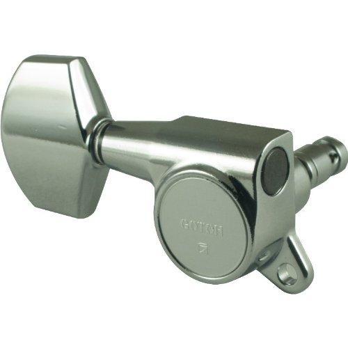 Gotoh Large Locking Schaller-style Knob Chrome Tuners (3 per side) ()