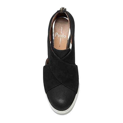 d9b5fd28195 Linea Paolo Faith Women s Sneaker - Leather Wrapped Wedge - Buy ...