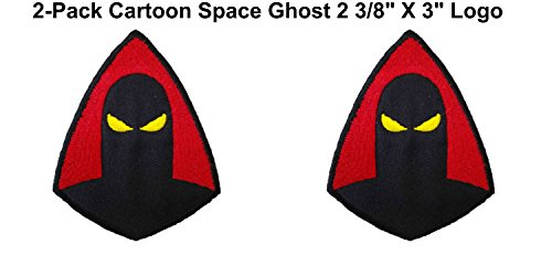 (2-Pack) Cartoon TV Series Retro Space Ghost Logo Iron/Sew-On Embroidered 2 3/8