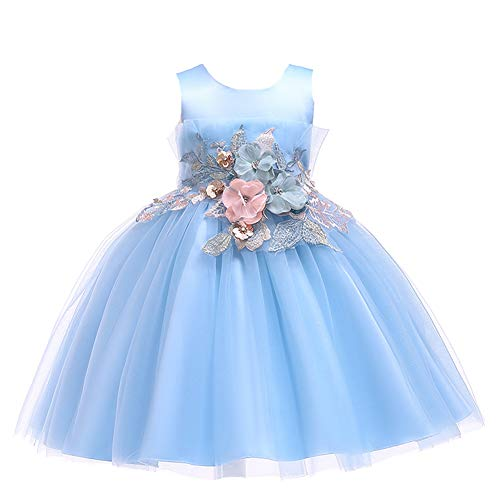 LZH Girls Bridesmaid Dress Wedding Pageant Party Princess Gown Prom -