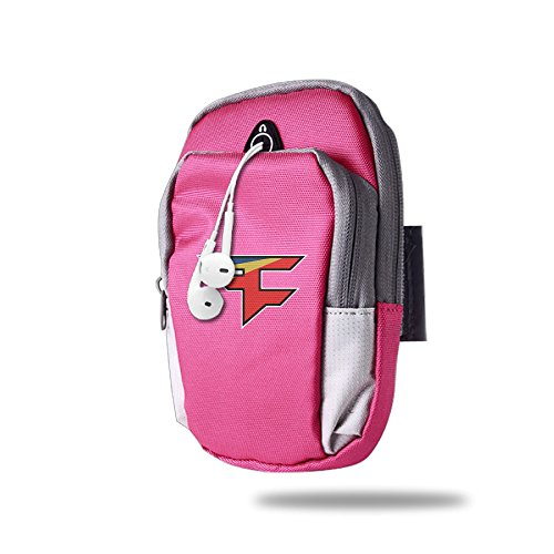 asenra-arm-bag-mens-womens-faze-clan-team-logo-pink-outdoor-sports-portable-arm-bag-arm-pouch-wrist-