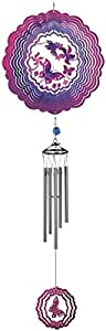 Wind Chime Ripple Illusion Butterfly Hanging Garden Decoration Porch