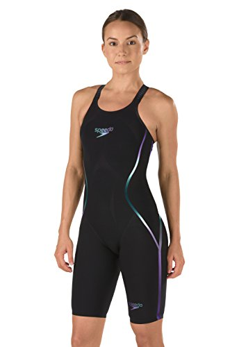 Speedo Fastskin LZR Racer X Closed Back Kneeskin Female Black/Blue 23