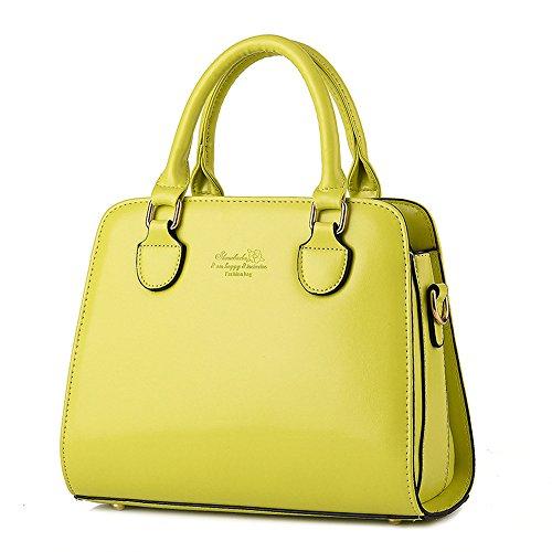 Wewod bolsa de mensajero hombro/bolsa de hombro moda/bandolera bolso mujeres grande/Carteras de mano con asa 28 x 22 x 12 cm (L*H*W) Verde