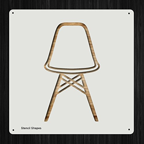 (Eames Chair Vitra Graph Home Piece Plastic Mylar Stencil for Painting, Walls and Crafts, Item 1080304)