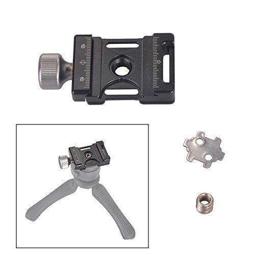 Aluminium Knob (Andoer 38mm Aluminum Screw Knob Mini Quick Release Clamp Compatible with Arca Swiss for 38mm QR Plate)