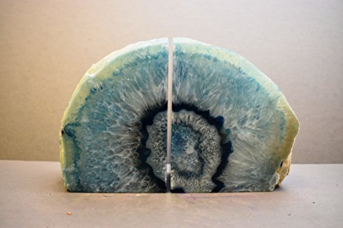 Agate Geode Bookends Extra Large (X-Large, Blue)