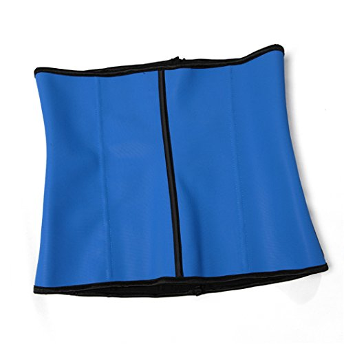 Women's Underbust Latex Sport Girdle Waist Training Corset Hourglass Body Shaper Azul