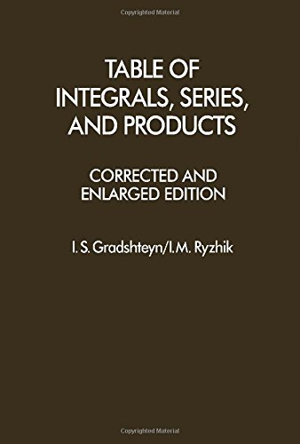 Table of Integrals, Series and Products, Corrected and Enlarged Edition (English and Russian - Rosa Ca Stores In Santa