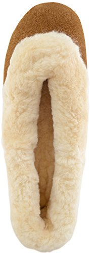SNUGRUGS Elena Sheepskin Ballerina, Pantofole donna Marrone Brown (Chestnut) 36.5