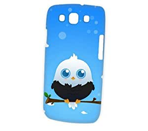 Case Fun Samsung Galaxy S3 (i9300) Case - Vogue Version - 3D Full Wrap - Black American Eagle by DevilleART hjbrhga1544