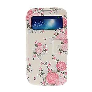 WQQ Teléfono Móvil Samsung - Carcasas de Cuerpo Completo - Diseño Especial - para Samsung S4 I9500 ( Beige , Cuero PU )