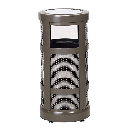 Rubbermaid Commercial Products FGA51SUABZPL Architek Series Refuse Container with Radius Urn Top (5-Gallon)