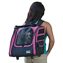 Pet Gear I-GO2 Traveler Roller Backpack for Cats and Dogs, Pink