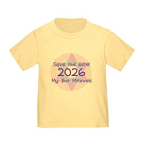 (CafePress My Bat Mitzvah Toddler T-Shirt Cute Toddler T-Shirt, 100% Cotton Daffodil Yellow)