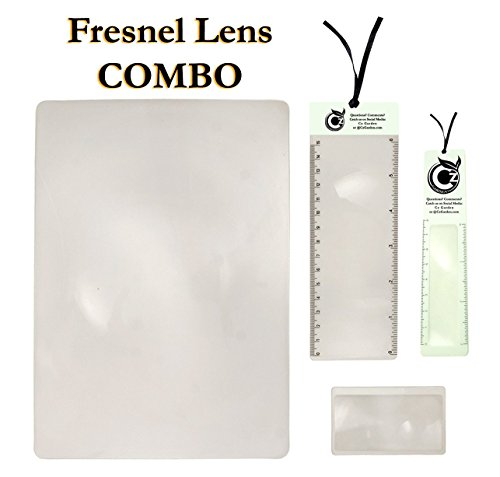 - Premium Fresnel Lens 4 Pack Set. Large Full Page 8.3
