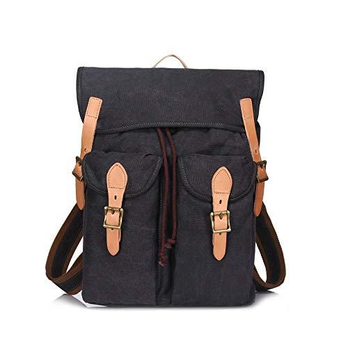 grande Canvas di Grigio resistente all'usura esterno capacità uomo per elegante Backpack Penao Retro PwBdqPR