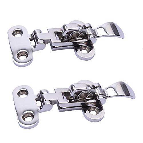 Stainless Steel Locker Hatch Deck Toggle Adjustable Latch Clamp 4-3/8