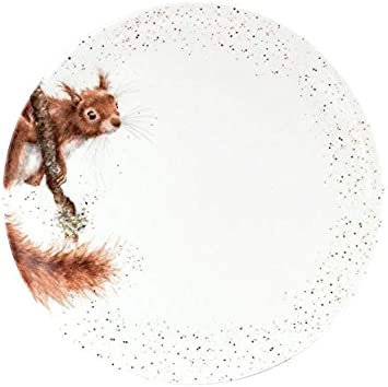 Li/èvre Royal Worcester Wrendale Assiettes individuelles de 26,5 cm en 4 designs /écureuil et canard Quackers blancs.