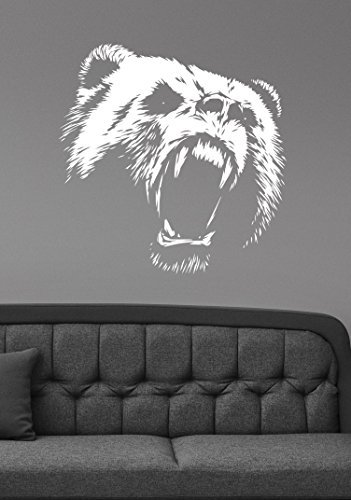Wild Animal Paw Prints (Bear Removable Wall Sticker Vinyl Decal Wildlife Animal Decorations for Home Kids Living Room Bedroom Office Decor br5)