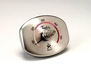 Taylor Connoisseur Dial Grill Thermometer Stainless Steel