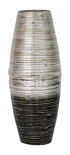 Heather Ann Creations W33950-SWD Hand Crafted Spun Large Open Rounded Bamboo Vase