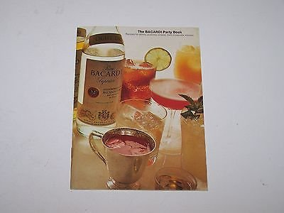 Vintage 1973 Bacardi Party Book rum recipes Cookbook
