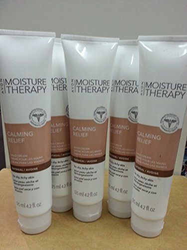 Lotion Avon Moisture Therapy (Avon Moisture Therapy Calming Relief Hand Cream Lot/5 Tubs)