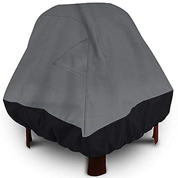 Patio hoguera de pie al aire libre, altura de 35 cm Gris oscuro con negro