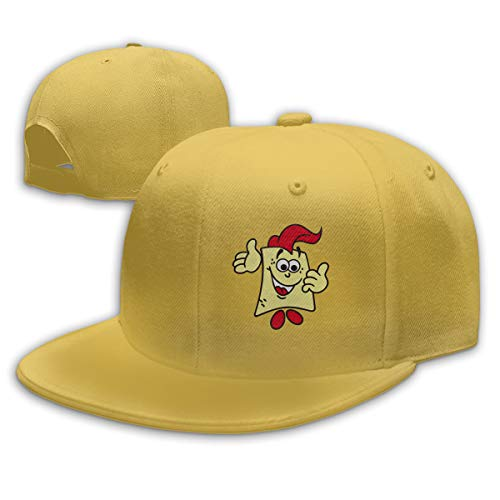 Sakanpo Spongebob Flat Visor Baseball Cap, Fashion Snapback Hat Yellow -
