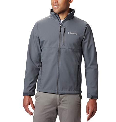 Columbia Men's Ascender Softshell Jacket, Water & Wind Resistant, Graphite, X-Large