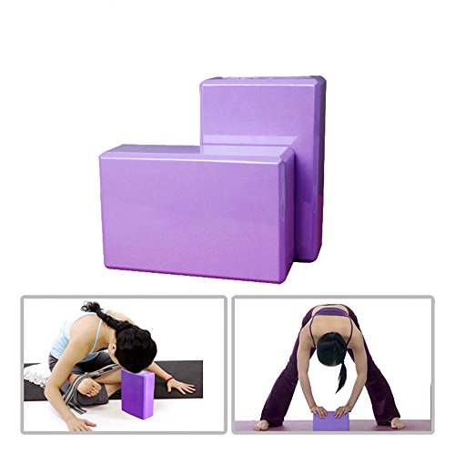 One Fitness EVA Foam yoga blocks, Lightweight, Odor Resistant and Moisture, hard and sturdy yoga blocks for yoga learners of different levels