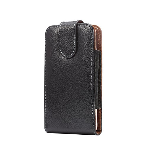 Iphone 7 Case Genuine Leather Vertical Hip For Iphone 6S Holster Iphone 6 4.7 Below 4.8inch Flip Premium Pouches Clip Belt Men Bag Black