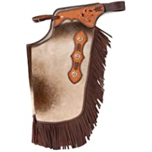 Tough 1 Hair On Leather Silver Concho Chinks