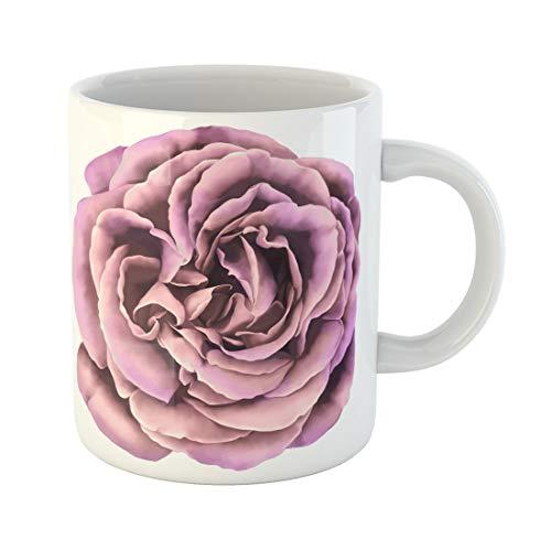 Semtomn Funny Coffee Mug Autumn Beautiful Light Rose Flower Color Fall Love Petals 11 Oz Ceramic Coffee Mugs Tea Cup Best Gift Or Souvenir