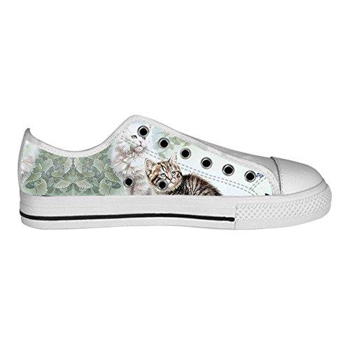 Custom Katzen malen Mens Canvas shoes Schuhe Lace-up High-top Sneakers Segeltuchschuhe Leinwand-Schuh-Turnschuhe B