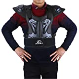 Takuey Adult Motorcycle Riding Body Chest Back Spine Protector Armor Vest with Reflective