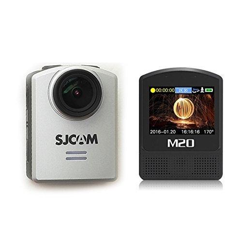 4K Sports Camera SJCAM M20 Real 4K 24FPS Ultra HD 16mp Sport Camera Mini Deportiva Camara NT96660 DSP IMX 117 WiFi 2 Inch Waterproof Action Cam Camera_Silver