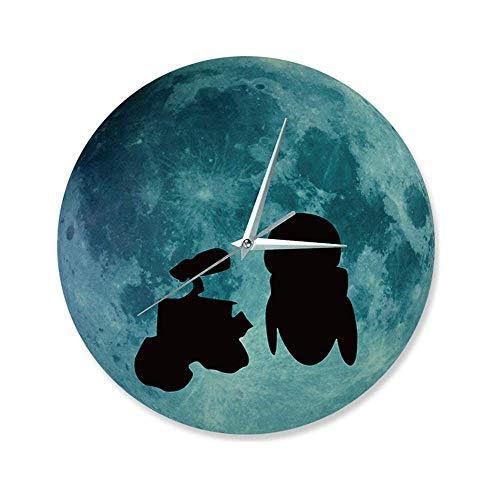 SCJS Wall Clock Halloween Cartoon Creative Wall Clock Glow Wallpaper Sticker Print Artist -