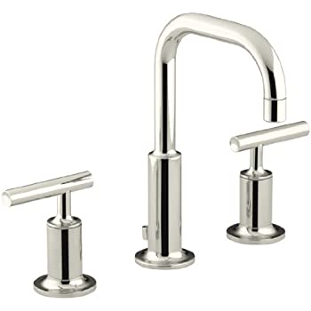 Kohler Purist K 14406 4 Sn Widespread Bathroom Sink Faucet