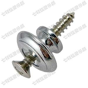 acoustic guitar accessories 2 pcs chrome mushroom head guitar strap lock end pins. Black Bedroom Furniture Sets. Home Design Ideas