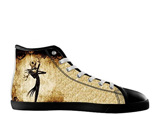 Men's Nonslip High Top Canvas Shoes with The Nightmare Before Christmas Theme - Jack Skellington Shoes
